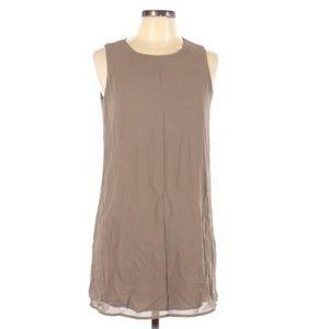 Beige Naked Zebra Shift Dress